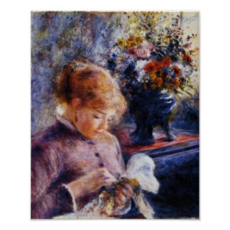 Renoir's Young Woman Sewing Poster