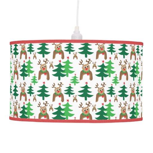 Renos y árboles de navidad