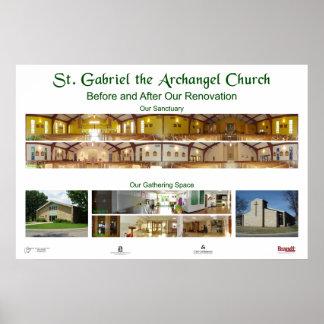 Renovación de la iglesia de St Gabriel Póster