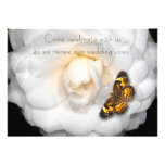 Renovación de los votos de boda/Camelia-Mariposa Invitación Personalizada