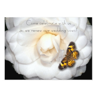 """Renovación de los votos de boda/Camelia-Mariposa Invitación 5"""" X 7"""""""