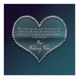 "Renovación de los votos de boda - falso corazón invitación 5.25"" x 5.25"""