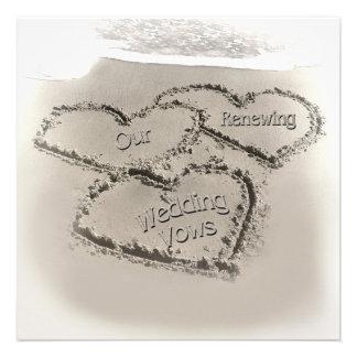 Renovación del boda de playa - Corazón-Playa de la Comunicados Personales