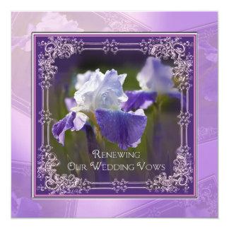 Renovación del boda - invitaciones - iris invitación 13,3 cm x 13,3cm