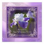 """Renovación del boda - invitaciones - iris invitación 5.25"""" x 5.25"""""""