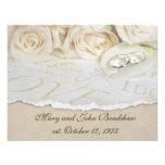 Renovación del voto de boda de los rosas blancos anuncios personalizados