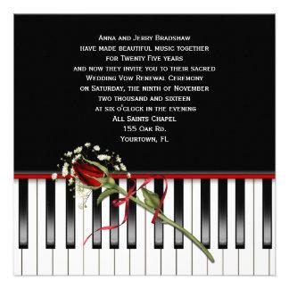 Renovación del voto de boda del piano