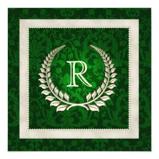 Renovación del voto de boda del verde esmeralda y comunicados