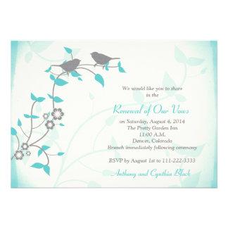 Renovación del voto del aniversario de boda de los comunicados personalizados