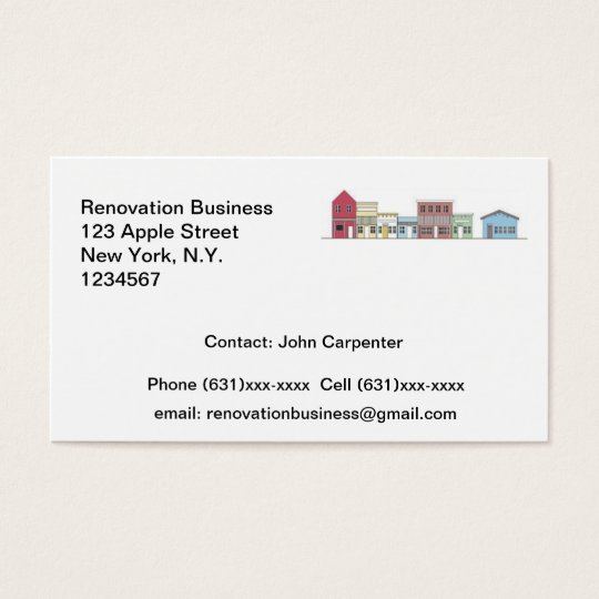 Renovation Business Card