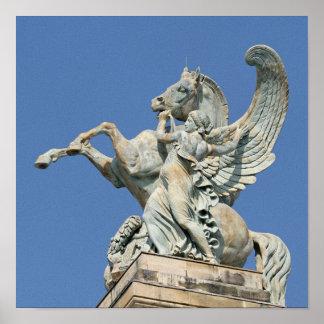 Renown Holding Back Pegasus Poster