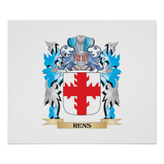 Rens Coat of Arms - Family Crest Poster