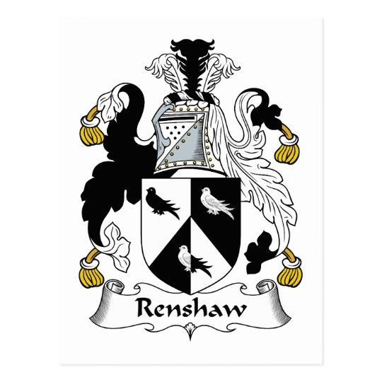Renshaw Family Crest Postcard