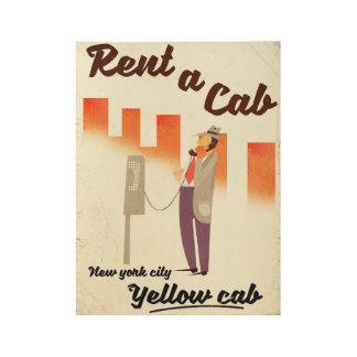 Rent a Cab! NYC Yellow cab poster