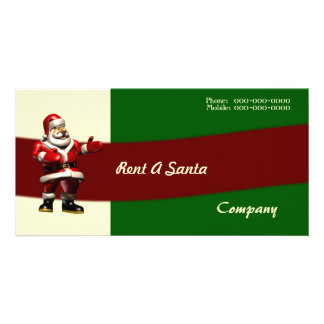 Rent A Santa Photo Card