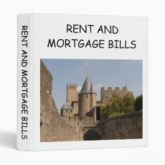 RENT AND MORTGAGE BILLS BINDER
