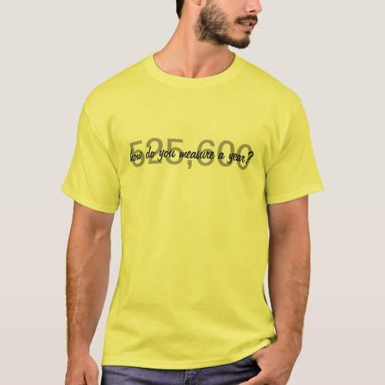 Rent-How Do You Measure a Year? T-Shirt
