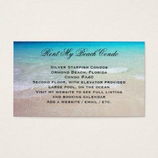 Rent My Beach Condo Custom Photo Advertisement Business Card