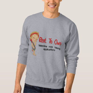 Rent To Own Valentine Embroidered Sweatshirt