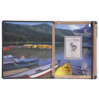 Rental boats at Cameron Lake in Waterton Lakes Cover For iPad