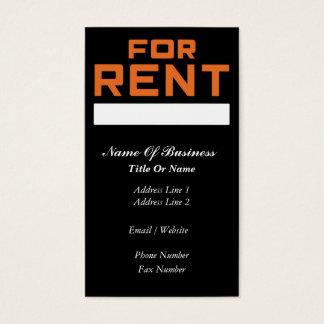 Rental Business Card
