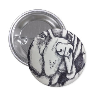 Rental Dog Art Button by Willowcatdesigns