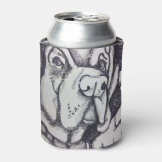"""Rental Dog"" Art Can Cover by Willowcatdesigns Can Cooler"