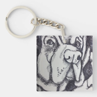 """Rental Dog"" Art Key Chain by Willowcatdesigns"