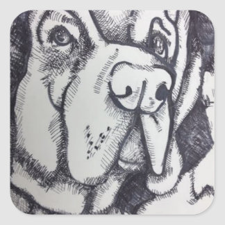 """Rental Dog"" Art Sticker by Willowcatdesigns"