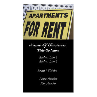 Rental Property Business Card