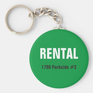 Rental unit real estate keychain