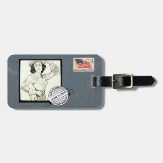 Renturn Cowgirl To Sender Customizable Bag Tag