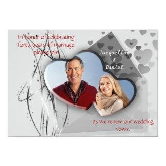 Renueve los votos de boda - marco de la foto del invitación 12,7 x 17,8 cm