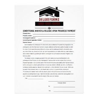 Renuncia del tejado negro y pago condicionales del membrete personalizado