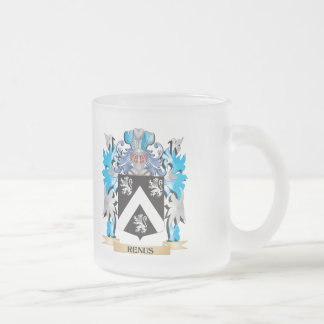 Renus Coat of Arms - Family Crest 10 Oz Frosted Glass Coffee Mug