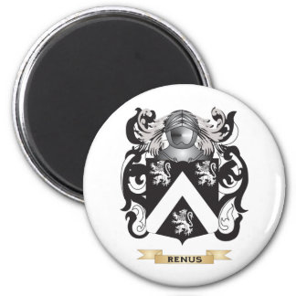 Renus Coat of Arms (Family Crest) 2 Inch Round Magnet