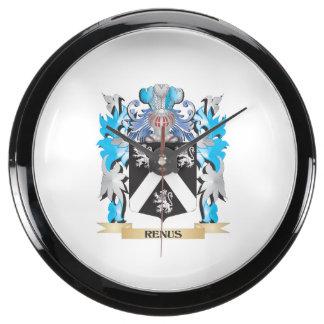Renus Coat of Arms - Family Crest Aquavista Clocks