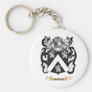 Renus Coat of Arms (Family Crest) Basic Round Button Keychain