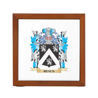 Renus Coat of Arms - Family Crest Desk Organizer