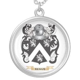 Renus Coat of Arms (Family Crest) Round Pendant Necklace