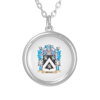 Renus Coat of Arms - Family Crest Round Pendant Necklace