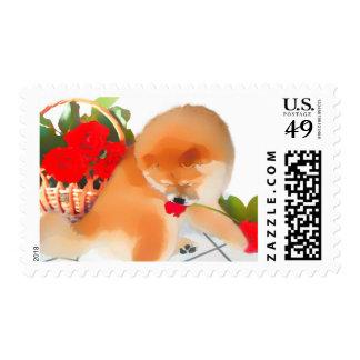 RENY heARTdog chow Postage Stamp