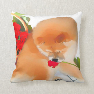 RENY heARTdog chow Throw Pillow