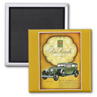 Reo Royale Eight 2 Inch Square Magnet