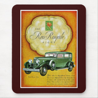 Reo-Royale Eight Automobile Ad Mouse Pad