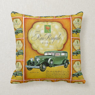 Reo-Royale Eight Automobile Ad Pillow