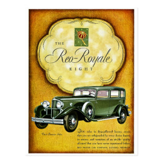 Reo Royale Eight Postcards