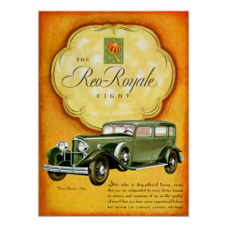 Reo Royale Eight ~ Vintage Automobile Ad Print