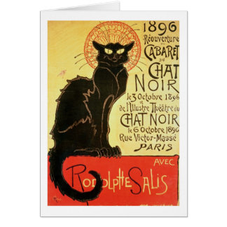 Reopening of the Chat Noir Cabaret, 1896 (colour l Greeting Card