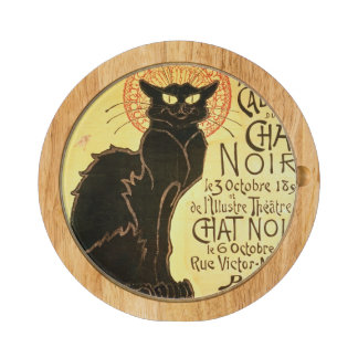 Reopening of the Chat Noir Cabaret, 1896 (colour l Round Cheeseboard